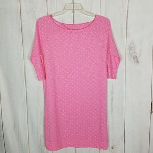 Lilly Pulizter | Pink Polka Dot Sheath Dress